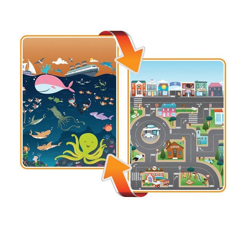 Mata dwustronna edukacyjna do zabawy - Ocean/City - Ocean/Miasto - Prince Lionhearts
