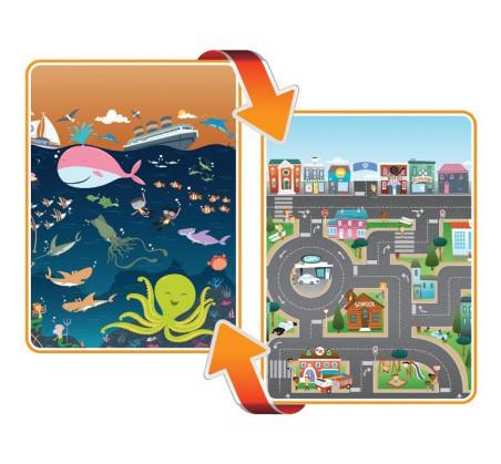 Mata dwustronna edukacyjna do zabawy - Ocean/City - Ocean/Miasto - Prince Lionheart