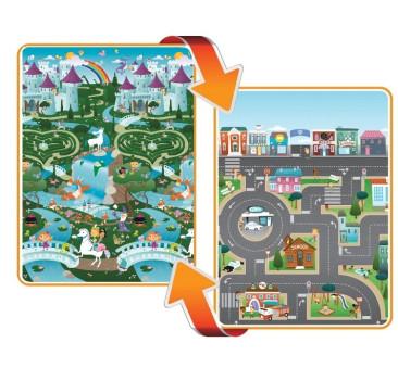 Mata dwustronna edukacyjna do zabawy - Fantasy/City - Kraina/Miasto - Prince Lionheart
