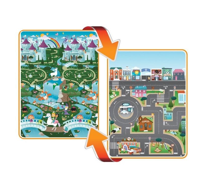 Mata dwustronna edukacyjna do zabawy - Fantasy/City - Kraina/Miasto - Prince Lionhearts