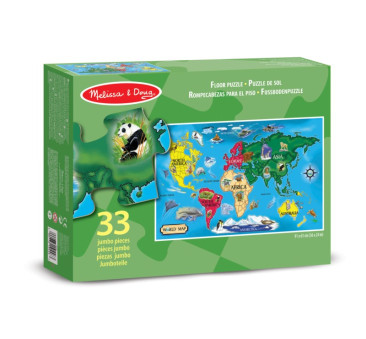 Układanka - Puzzle Podłogowe - Mapa Świata - Melissa & Doug