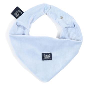Mięciutka Apaszka - Powder Blue - Błękitna - La Millou - Velvet Collection