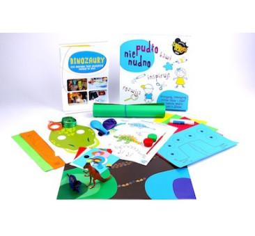 Pudło Nienudno - Dinozaury - zestaw do zabawy kreatywnej