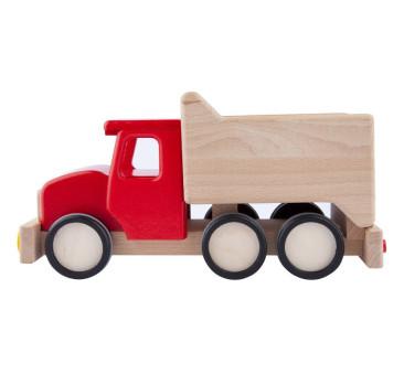 Duża drewniana wywrotka - Tipper - czerwona Lupo Montessori