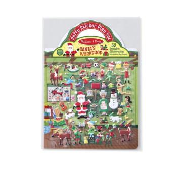 Naklejki Wielokrotnego Użytku 3D Święty Mikołaj - Melissa & Doug
