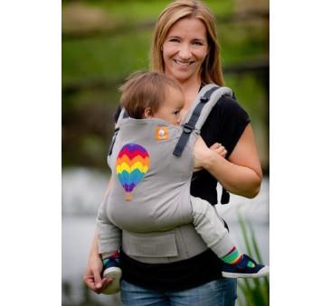 BABY TULA embroidered - nosidełko standardowez haftem - wzór Hot Air Balloon