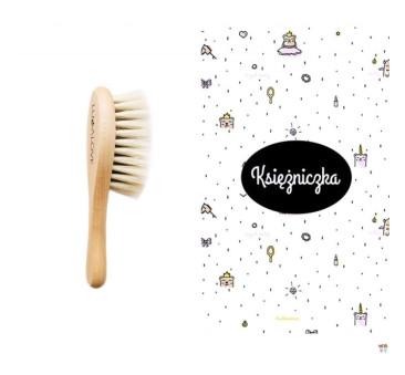 Szczotka z włosia koziego i bambusowa myjka księżniczka - LullaLove