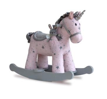Jednorożec na Biegunach Celeste Fae - Bujany Unicorn - Różowy + 9 miesięcy - Little Bird Told Me