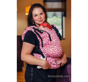 Nosidełko regulowane LennyUp z tkaniny żakardowej 100% bawełna - Basic Line Turmalin- LennyLamb