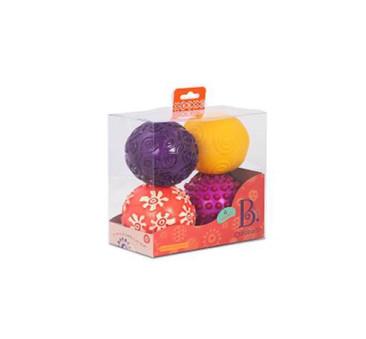 Zestaw czterech piłek sensorycznych - Oddballs - BTOYS