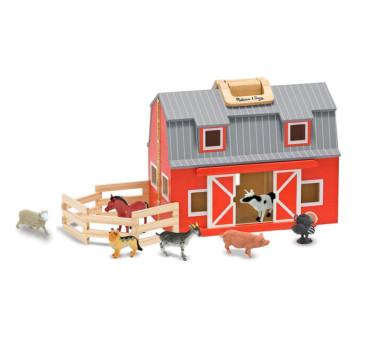 Drewniana Stajnia Farma ze Zwierzątkami - Melissa & Doug - Montessori