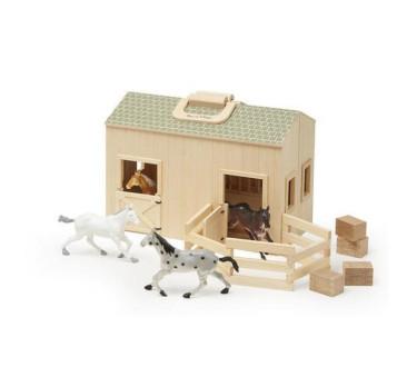 Drewniana Stajnia Farma z Konikami - Melissa & Doug - Montessori