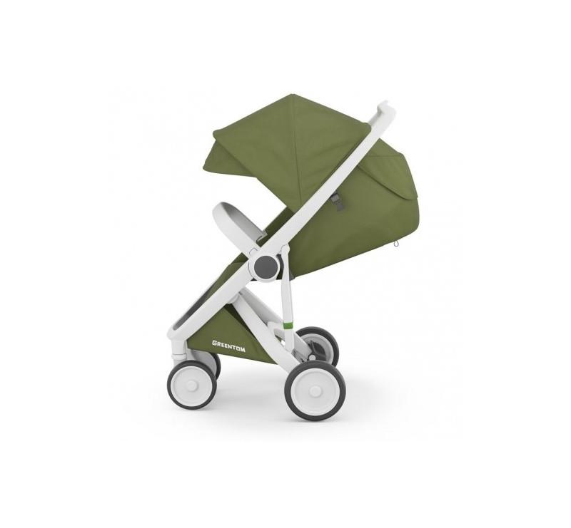 Wózek Greentom Upp Classic - white - olive / biało - oliwkowy