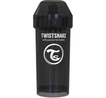 Kubek niekapek z mikserem do owoców, czarny 360ml - Twistshake