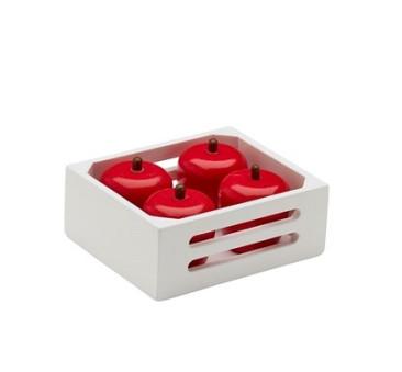 Skrzynka Z Jabłkami - Drewniane Jabłka - Owoce - Kids Concept - Montessori