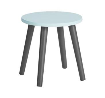Done By Deer - Stołek - Taboret - Krzesełko - Okrągły Blue/Niebieski