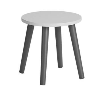 Done By Deer - Stołek - Taboret - Krzesełko - Okrągły Grey/Szary