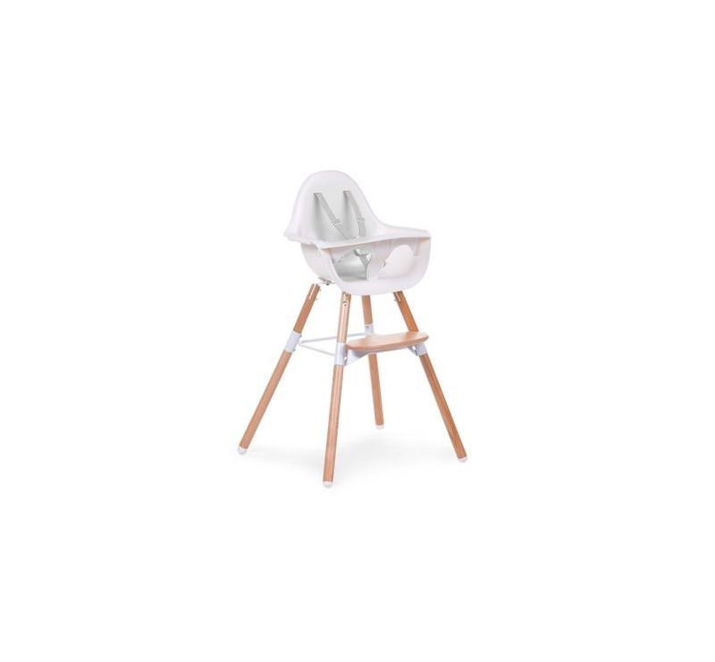 Krzesełko do karmienia Evolu 2 naturalny/biały - Childhome