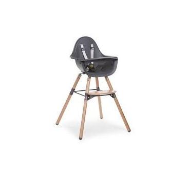 Krzesełko do karmienia Evolu 2 naturalny/antracyt - Childhome