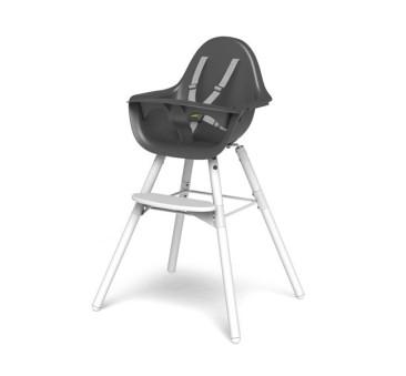 Krzesełko do karmienia Evolu 2 biały/antracyt - Childhome