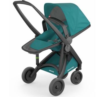 Wózek Greentom Upp Reversible - black - teal(petrol)/ czarno - butelkowy