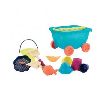 Wózek - Wagon z akcesoriami plażowymi - niebieski - Wavy-Wagon - BTOYS
