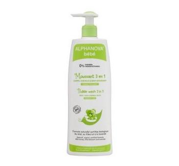 Organiczny Płyn do Kąpieli dla dzieci 3 w 1 - 500 ml - Alphanova Bebe