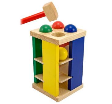 Drewniana Wieża Kulki Przebijanka - Melissa & Doug - Montessori