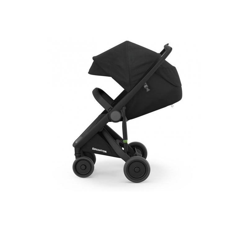 Wózek Greentom Upp Classic - black - black / czarno - czarny