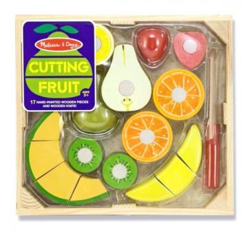 Drewniane owoce do krojenia - Melissa & Doug - Montessori