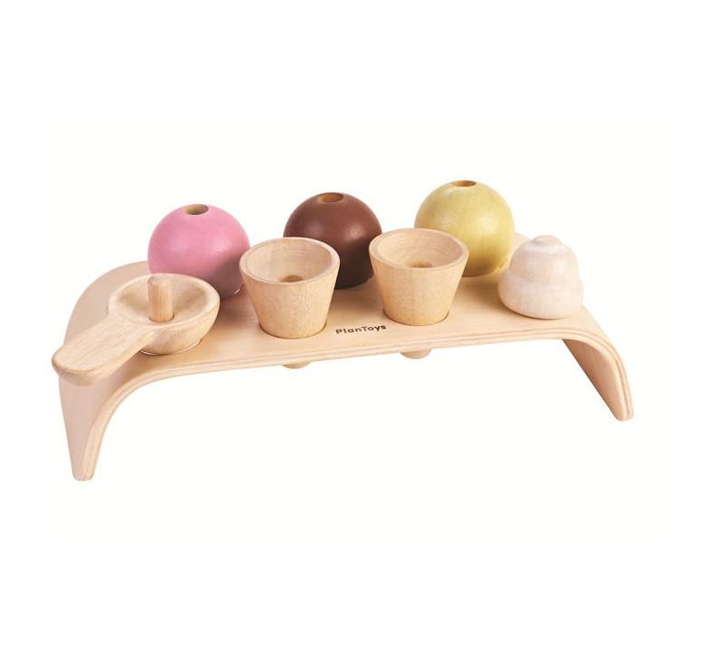 Pastelowa drewniana lodziarnia - Plan Toys