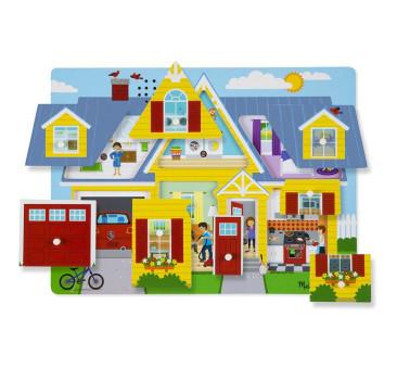 Puzzle Układanka z Dźwiękiem - Dom - Melissa & Doug - Montessori