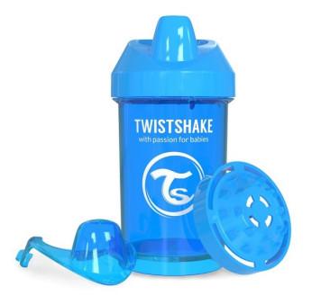 Kubek niekapek z mikserem do owoców, niebieski 300ml - Twistshake