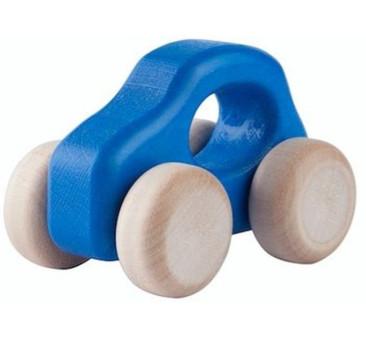 Samochodzik DREWNIANY F500 OLD niebieski autko LUPO MONTESSORI