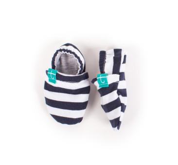 Papcie niemowlęce - Titot Newborn - Navy Stripes