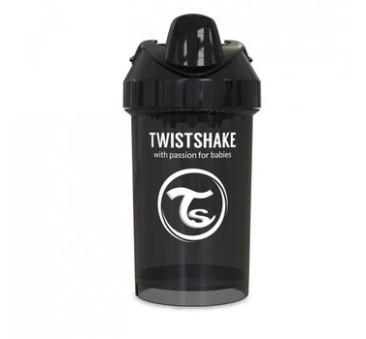 Kubek niekapek z mikserem do owoców, czarny 300ml - Twistshake