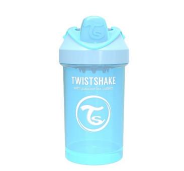 Kubek niekapek z mikserem do owoców, pastelowy niebieski 300ml - Twistshake