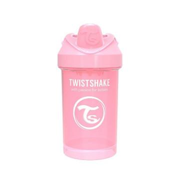 Kubek niekapek z mikserem do owoców, pastelowy różowy 300ml - Twistshake