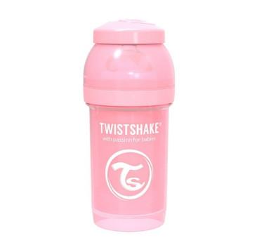 Antykolkowa butelka do karmienia, pastelowy różowy 180ml - Twistshake