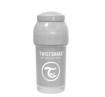 Antykolkowa butelka do karmienia, pastelowy szary 180ml - Twistshake