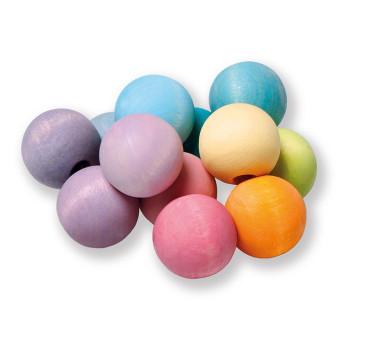 Pastelowe perełki do chwytania 0+ - Grimm's Grimms - Zabawka drewniana - Montessori