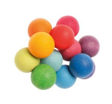 Tęczowe perełki do chwytania 0+ - Grimm's Grimms - Zabawka drewniana - Montessori