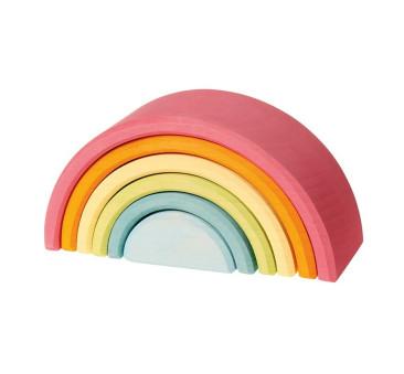 Pastelowa 6-elementowa tęcza - Grimm's - Zabawka drewniana - Montessori