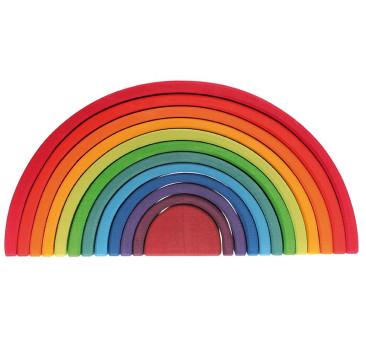 Kolorowa 12-elementowa tęcza 1+ - Grimm's Grimms - Zabawka drewniana - Montessori