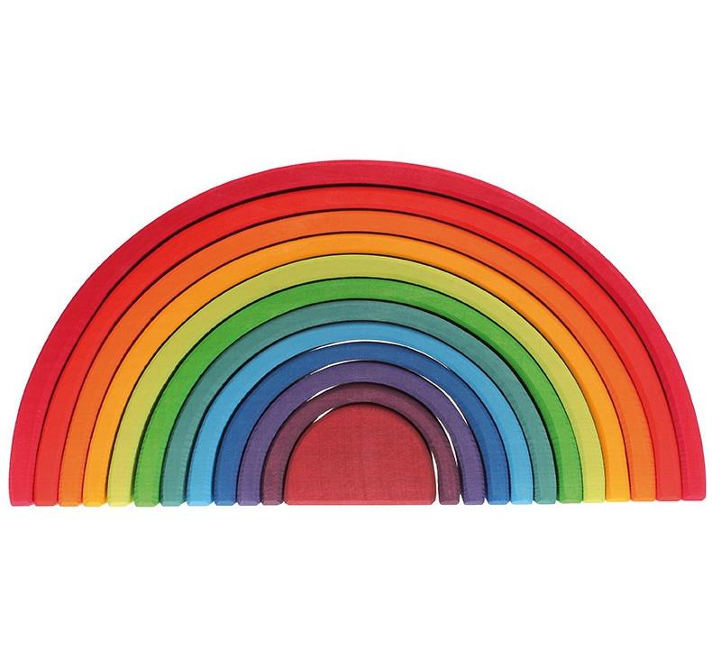 Kolorowa 12-elemnetowa tęcza 1+ - Grimm's - Zabawka drewniana - Montessori