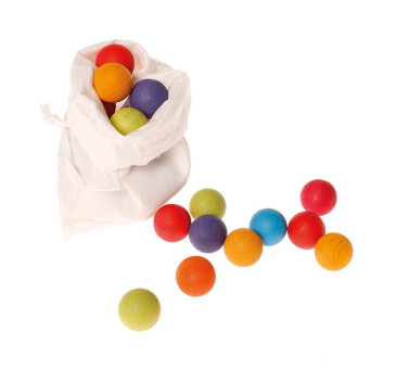 35 drewnianych kulek kolorowych 3+ - Grimm's Grimms - Zabawka drewniana - Montessori