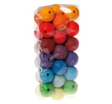 36 kolorowych korali, średnica 30 mm 3+ - Grimm's Grimms - Zabawka drewniana - Montessori