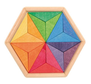 Drewniane puzzle do układania gwiazdy 3+ - Grimm's Grimms - Zabawka drewniana - Montessori