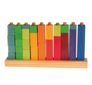 Kolorowe klocki do zabawy w liczenie 3+ - Grimm's Grimms - Zabawka drewniana - Montessori