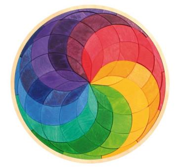 Tęczowa spirala w kole, 3+, Grimm's Grimms - Zabawka drewniana - Montessori